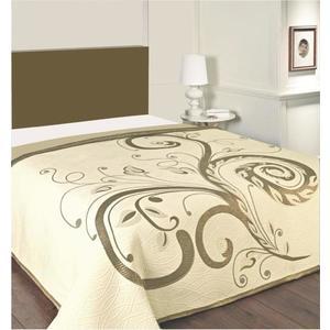 Narzuta na łóżko, Dominic, brązowozłoty 240 x 260 cm obraz