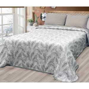 Forbyt, Narzuta na łóżko, Tropicalia, szara 240 x 260 cm obraz