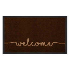 Brązowa wycieraczka Bougari Welcome, 45x75 cm obraz