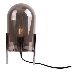 Szara szklana lampa stołowa Leitmotiv Glass Bell obraz