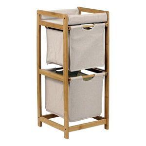 Regał bambusowy 2 szuflady obraz