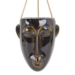Ciemnobrązowa wisząca doniczka PT LIVING Mask, wys. 22, 3 cm obraz