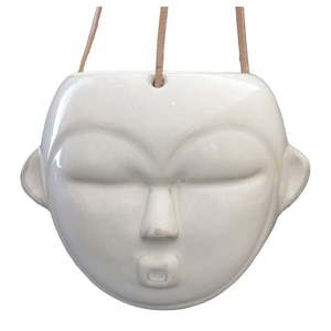 Biała wisząca doniczka PT LIVING Mask, wys. 15, 2 cm obraz