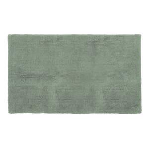 Zielony bawełniany dywanik łazienkowy Tiseco Home Studio Luca, 60x100 cm obraz