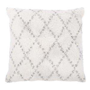 Biało-szara bawełniana poduszka dekoracyjna Tiseco Home Studio Geometric, 45x45 cm obraz