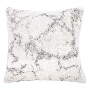 Biało-szara bawełniana poduszka dekoracyjna Tiseco Home Studio Abstract, 45x45 cm obraz