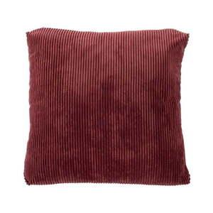 Czerwona poduszka dekoracyjna Tiseco Home Studio Ribbed, 60x60 cm obraz
