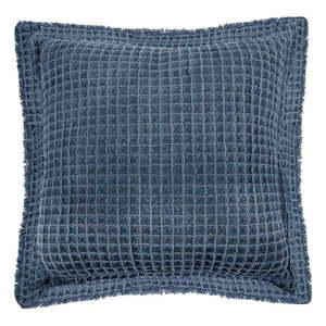 Niebieska bawełniana poduszka dekoracyjna Tiseco Home Studio Waffle, 45x45 cm obraz