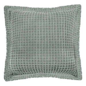 Zielona bawełniana poduszka dekoracyjna Tiseco Home Studio Waffle, 45x45 cm obraz