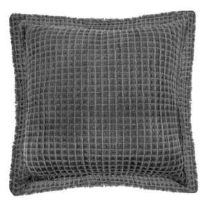 Szara bawełniana poduszka dekoracyjna Tiseco Home Studio Waffle, 45x45 cm obraz