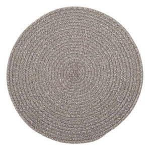 Brązowa mata stołowa z domieszką bawełny Tiseco Home Studio, ø 38 cm obraz