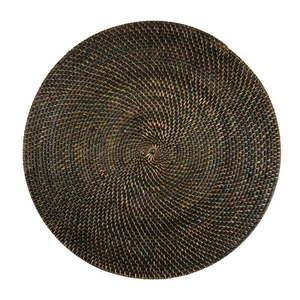 Brązowa rattanowa mata stołowa Tiseco Home Studio, ø 36 cm obraz