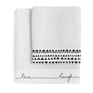 Zestaw 2 bawełnianych ręczników Blanc Live obraz