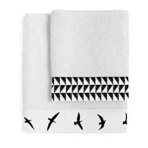 Zestaw 2 bawełnianych ręczników Blanc Trip obraz