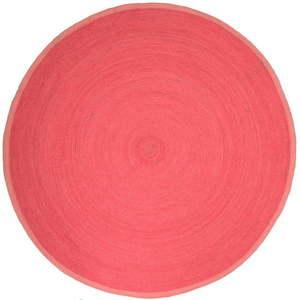 Różowy dywan dziecięcy Nattiot Tapis, Ø 140 cm obraz