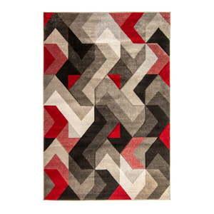 Czerwono-szary dywan Flair Rugs Aurora, 160x230 cm obraz