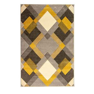 Szaro-żółty dywan Flair Rugs Nimbus, 160x230 cm obraz
