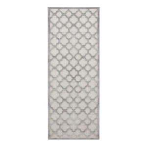 Szary chodnik z wiskozy Mint Rugs Bryon, 80x250 cm obraz