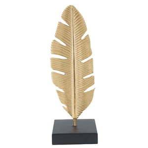 Świecznik dekoracyjny w kolorze złota Mauro Ferretti Feather, wys. 30 cm obraz