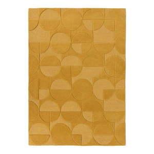 Żółty wełniany dywan Flair Rugs Gigi, 200x290 cm obraz