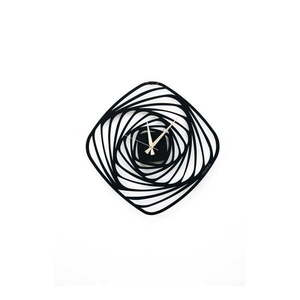 Czarny metalowy zegar ścienny Girdap, ⌀ 50 cm obraz
