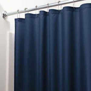 Niebieska zasłona prysznicowa iDesign, 200x180 cm obraz