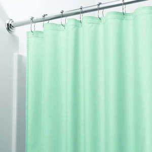 Zielona zasłona prysznicowa iDesign, 200x180 cm obraz