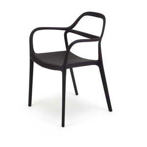 Zestaw 2 czarnych krzeseł Le Bonom Dali Chaur obraz