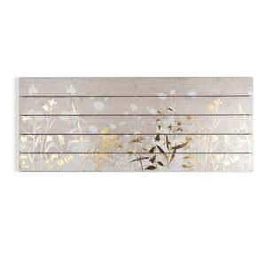 Drewniany obraz Graham & Brown Metallix Wood Meadow, 100x40 cm obraz