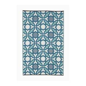 Niebiesko-szary dwustronny dywan na zewnątrz z tworzywa sztucznego z recyklingu Fab Hab Seville, 150x240 cm obraz