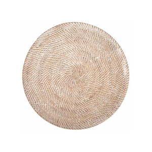 Biała rattanowa mata stołowa Tiseco Home Studio, ⌀ 36 cm obraz