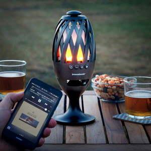 Lampa LED z głośnikiem Bluetooth InnovaGoods obraz