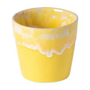 Żółto-biała kamionkowa filiżanka do espresso Costa Nova, 90 ml obraz