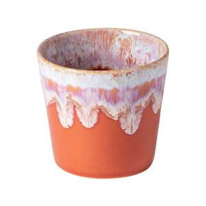 Biało-pomarańczowa kamionkowa filiżanka do espresso Costa Nova, 200 ml obraz