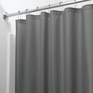 Szara zasłona prysznicowa iDesign, 183x183 cm obraz