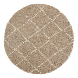 Brązowy dywan Mint Rugs Hash, ⌀ 160 cm obraz