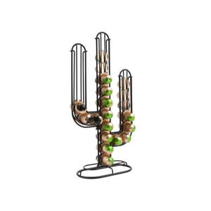 Czarny stojan na kapsułki do kawy PT LIVING Cactus obraz