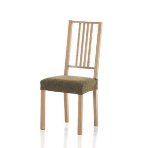 Forbyt, Pokrowiec na siedzisko krzesła, Petra komplet 2 szt., brązowy obraz