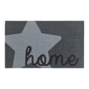 Szara wycieraczka Zala Living Design Star Home Grey, 50x70 cm obraz