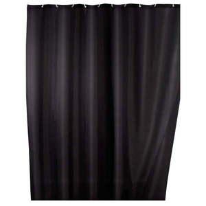 Czarna zasłona prysznicowa z powierzchnią antypleśniową Wenko, 180x200 cm obraz
