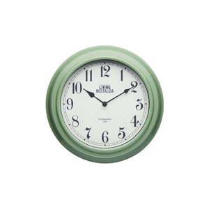 Zielony zegar ścienny Kitchen Craft Living Nostalgia, ⌀ 25, 5 cm obraz
