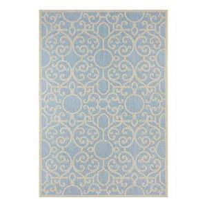 Niebiesko-beżowy dywan odpowiedni na zewnątrz Bougari Nebo, 140x200 cm obraz