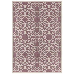 Fioletowo-beżowy dywan odpowiedni na zewnątrz Bougari Nebo, 140x200 cm obraz