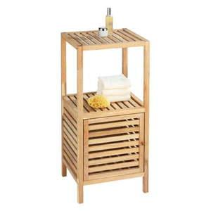 Szafka łazienkowa z drewna orzechowego z drzwiczkami Wenko Norway obraz