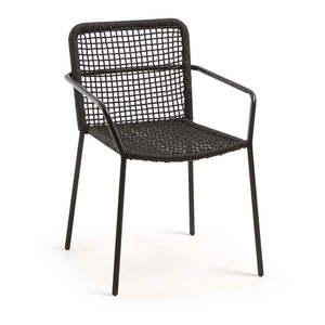 Fotel ogrodowy - czarny obraz