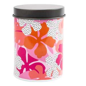 Różowy pojemnik cynowy Navigate Floral obraz