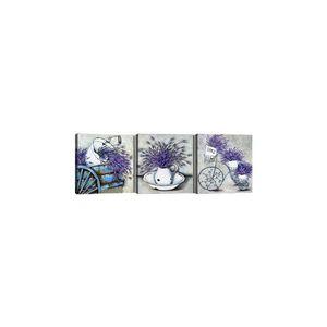 Zestaw 3 obrazów Tablo Center Lavender obraz