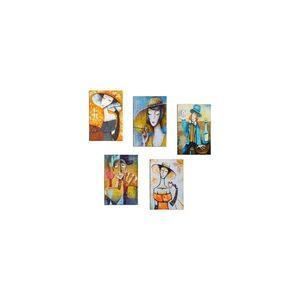 Zestaw 5 obrazów Tablo Center Modern Woman obraz