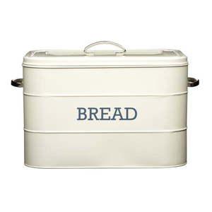 Kremowy metalowy pojemnik na chleb Kitchen Craft Nostalgia obraz