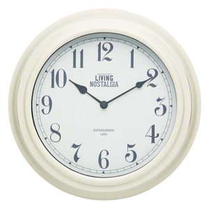 Kremowy zegar ścienny Kitchen Craft Living Nostalgia, ⌀ 25, 5 cm obraz